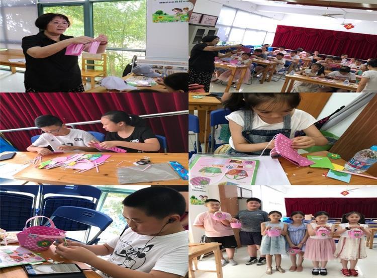 巧手编篮  乐在其中——九里亭朗庭居民区暑期手工编织活动